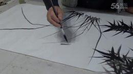 郭青先生画兰竹