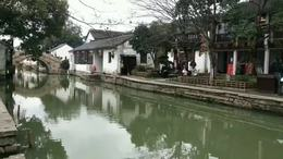 周庄古镇 水乡来划船