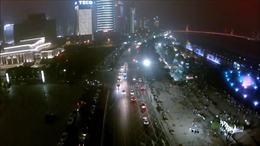 Nanchang at Night 俯瞰南昌城 从空中看南昌 高清