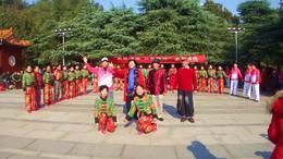 醴陵老年大学二班冬游活动    二组节目展示  采茶一家亲