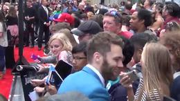Seth Gabel greets fans at the Jurassic World Premiere