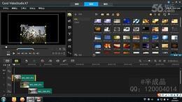 会声会影X7教程 21.制作滚动照片电子相册