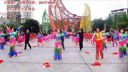 重庆红蜻蜓广场舞《爱情天堂》,潼南火苗6周年集体舞
