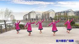 宜兴绿茶广场舞《风中的额吉》応子广场舞系列