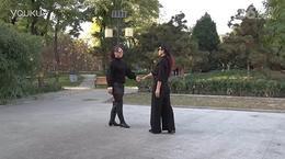 北京水兵舞教学第一套第5个花侧身点步