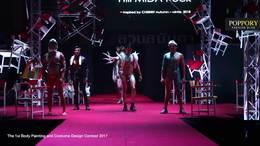 2017泰国时尚首次人体彩绘和戏装竞选