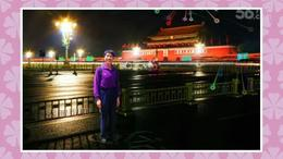 请欣赏国庆之夜天安门广场五彩缤飞的焰火