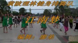黄陂理林健身排舞队广场舞   江南梦