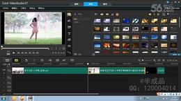 会声会影X7教程 6.剪辑剪切视频 合并串连多个视频 视频制作...