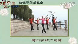广场舞教学 舞钢祥和 站在草原望北京 健身操 集体舞