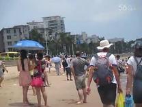 2015暑假安安和爸爸在厦门珍珠湾游泳(5)