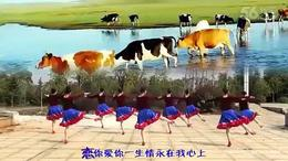 梦里青草香 江西鄱阳春英广场舞(背面演示及口令分解)