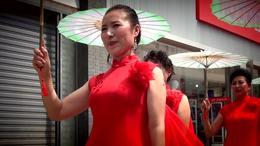 吉林市百年老街千人旗袍秀
