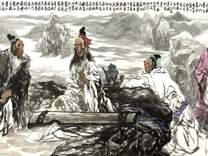 耿建先生巨幅国画作品《竹林七贤》赏析  金安传媒