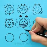 5分钟创意画作,快教孩子们动手画起来吧!