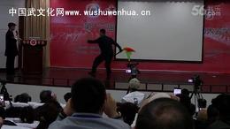 郭彦君老师在第十三届邯太极拳大会杨式太极拳论坛郸表演太极刀