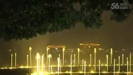 音画;西湖音乐喷泉.胡弦夫摄
