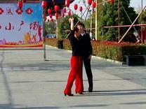 交谊舞:慢四《梅花泪》表演:兰兰组合.