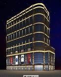 甘肃大酒店楼体亮化用跑马灯512外控线条灯洗墙灯