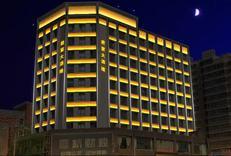 君宴大酒店的外墙墙体亮化使用线条灯512外控