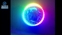 幻彩天使环,汽车大灯装饰,可编程效果