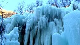 赏冰瀑北京平谷京东大峡谷20200103