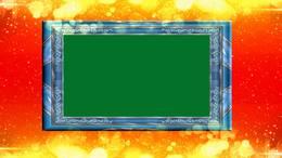 动感 抠绿 相框 照片  光斑 粒子背景 视频