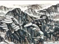 国画家张宏延巨幅长卷作品《锦绣三秦》欣赏  金安传媒
