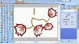 电脑刺绣绣花制版教程,周线针的注意事项和实例讲解