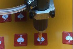 全自动标牌点胶机  CCD视觉定位点胶机