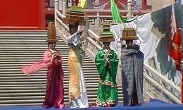 时装表演《古城西安》—陕西省中国风艺术团在大唐西市的表演