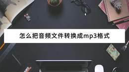 怎么把音频文件转换成mp3格式