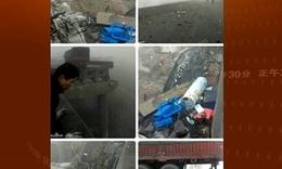 河南省一载满烟花炮竹货车发生大爆炸引起桥面断裂