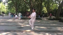杨式二十七式太极拳  演练陈庆琳  杭州09 07 2020