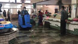 菜市场地面清洁,就选优尼斯大型驾驶式洗地机U900A