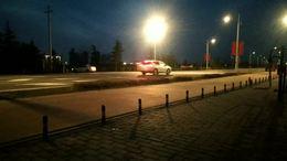 渭河大坝晚景