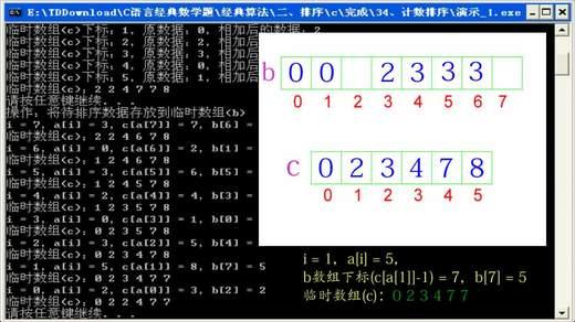 21、c、c  排序算法_计数排序
