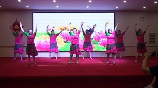 晋北村健身队二周年联谊会《梦见你的那一夜》美舞健身队拍摄陈荣