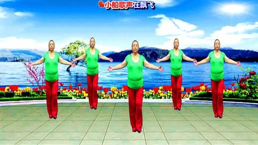 横峰夕阳红广场舞《北江美》单人版