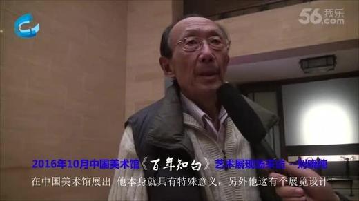 2016年10月中国美术馆《百年知白》艺术展现场采访 刘骁纯...