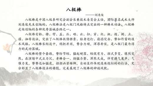八极棒  演练者刘连俊