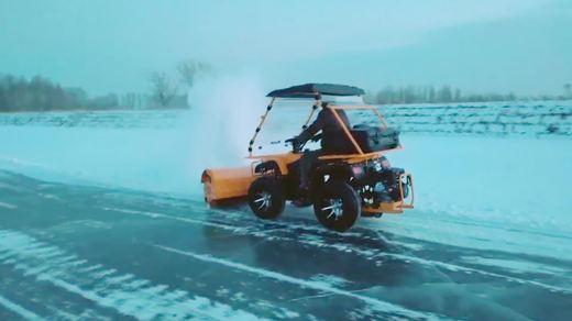 坦龙驾驶式扫雪车(扫雪机)T13 13效果视频
