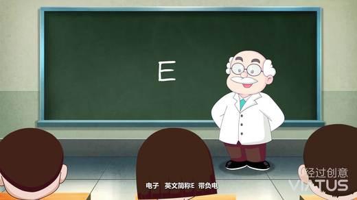 中国电子卡通形象小E 经过创意制作