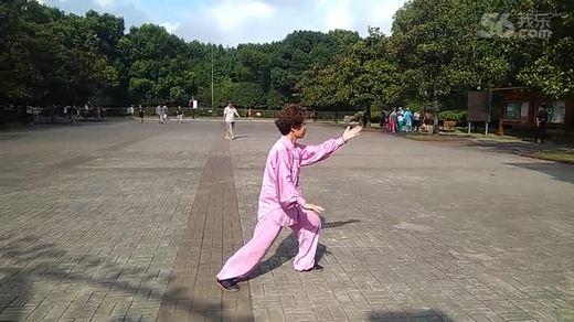 24式太极拳,黄兴公园章兰英展示。