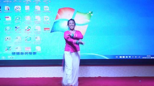 晋北村健身队二周年联谊独舞《歌在飞》表演陈萍拍摄陈荣