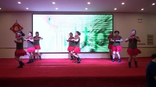 晋北村健身队二周年联谊会《前世今生的缘》表演红玫瑰队拍摄陈荣