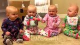 妈妈教五胞胎喊妈妈,结果五个娃嘴里蹦出的全是爸爸,笑哭了