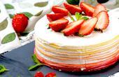 红丝绒渐变千层蛋糕,颜值逆天,看完口水都流出来了!