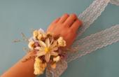 动手做简单的新娘手腕花