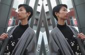 【美丽极客】Rachel个性秋冬高领单衣复古风     LOOKBOOK